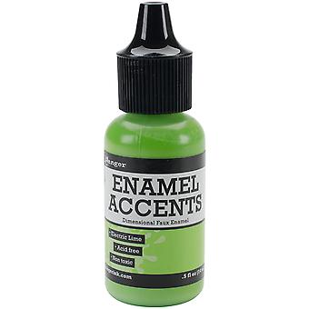 Inkssentials Enamel Accents .5oz-Electric Lime GAC-48909