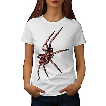 Spider Beast Wild Animal Women White T-shirt | Wellcoda