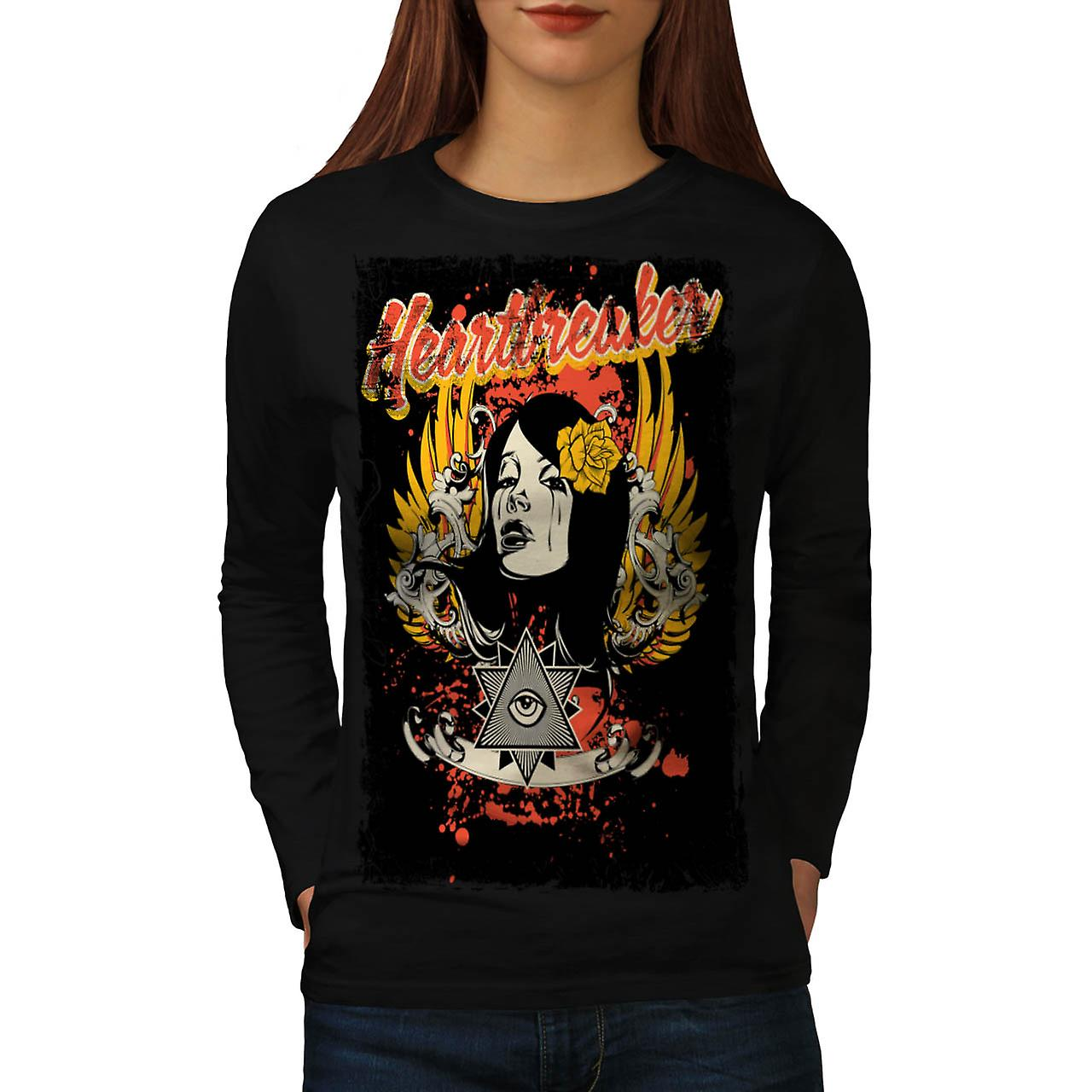 Heart Breaker Society Illuminati Women Black Long Sleeve T-shirt | Wellcoda