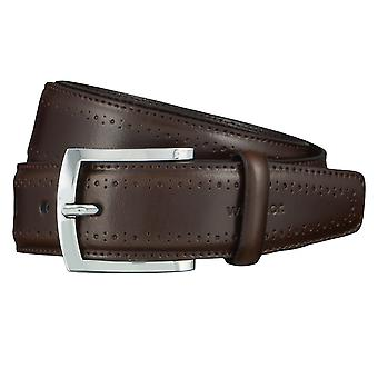 Windsor. Belts men's belts leather belt Brown 4467