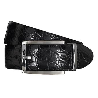 SAKLANI & FRIESE belts men's belts leather belt black 5113