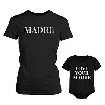 Madre Shirt For Mom Love Your Madre for Baby Onesie Mothers Day Matching Outfits