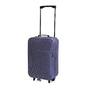 Slimbridge Barcelona kabine godkendt taske, lilla prikker