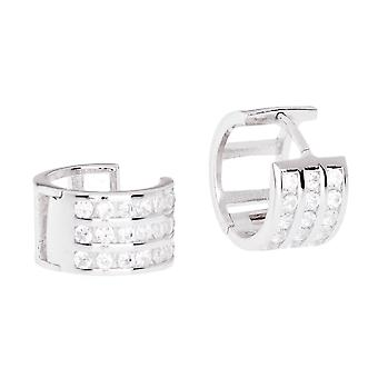Sterling 925 Silver HOOP earrings - BLING KING 12 mm