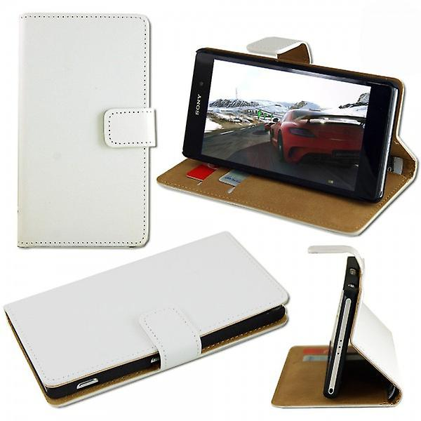 Pocket wallet white for Sony Xperia Z3 compact D5803 M55W