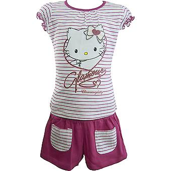Girls Charmmy Hello Kitty Summer T-shirt & Shorts Set