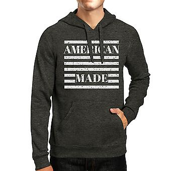 American Made Unisex Grey Hoodie Cute 4th Of July Design Hoodie