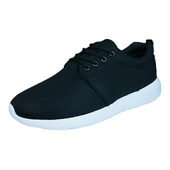 DT New York Mens Lace Up Trainers / Shoes - Black
