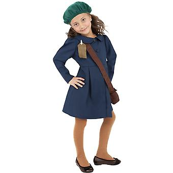 Second World War, evacuated girl costume