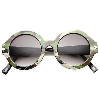 Dame runde solbriller med UV400 beskyttet Gradient linse