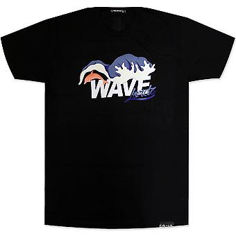Pink Dolphin Waves Lordz T-Shirt Black