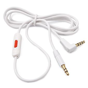 Replacement White Audio Cable for Apple Beats Studio 2.0 Headphones with Control Talk for iPhone/iPad/iPod & Android