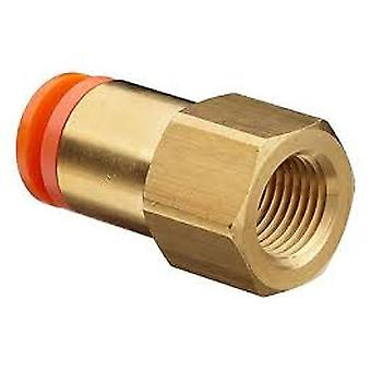 SMC Pneumatic Straight Threaded-To-Tube Adapter, Rc 1/2 Female, Push In 16 Mm