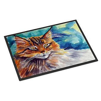 Maine Coon Cat Watching you Indoor or Outdoor Mat 24x36