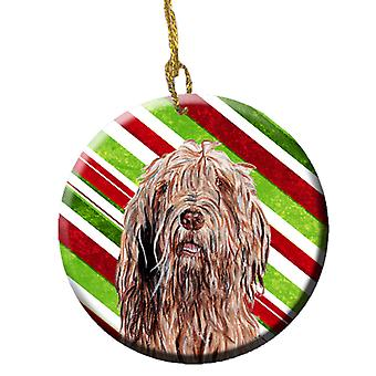 Carolines tesori SC9805CO1 Otterhound canna di caramella ornamento di Natale in ceramica