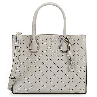 Michael Kors Mercer Grommeted Leather Tote - gris - 30F7SZ4T3U-081