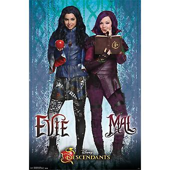 Disney Descendants - Mal and Evie Poster Poster Print