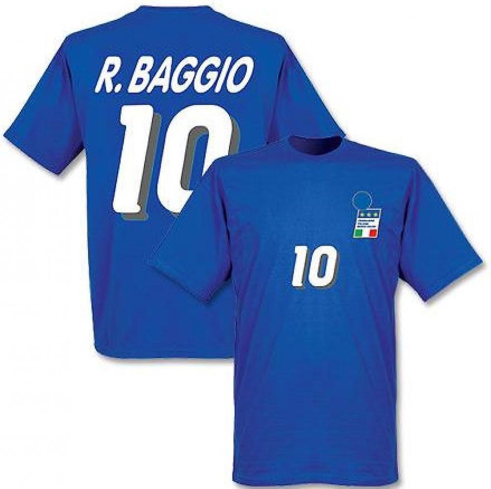 Roberto Baggio Italien 1994 Home T-tröja (blått)
