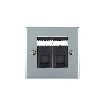 Hamilton Litestat Hartland Satin Chrom 2g RJ12 Outlet Unshield BL