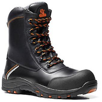V12 E1300 Defiant Black High Leg Zip Sided Boot EN20345:2011-S3 Size 7