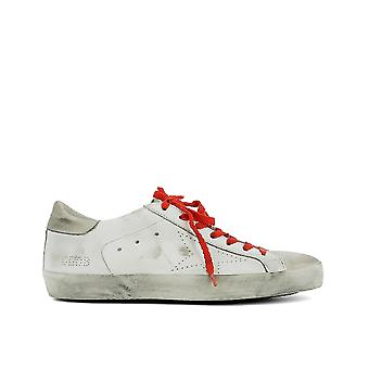 Golden Goose men's G30MS590B67 White leather of sneakers