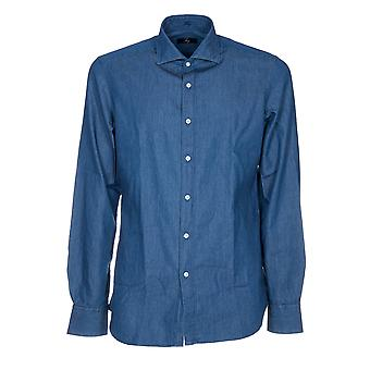 Fay mens NCMA135262LMJPU210 Blau cotton shirt