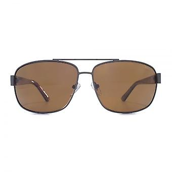Levis Metal Square Sunglasses In Matte Gunmetal Polarised