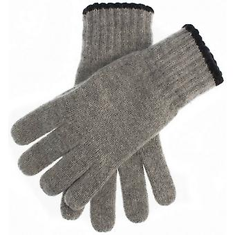 Dents Newburgh Knitted Gloves - Grey/Black