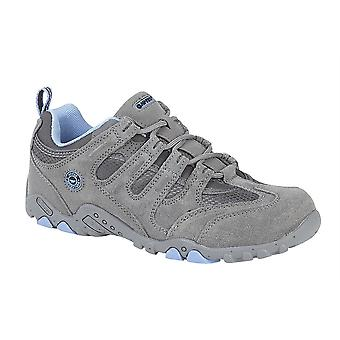 Ladies Womens Hi Tec Leather Suede Hiking Walking Trail Lace Up Shoes