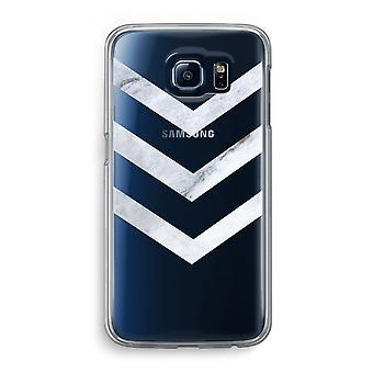Samsung Galaxy S6 Transparent Case (Soft) - Marble arrows