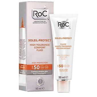 Roc High Tolerance Fluid 50 Soleil Protect 50 ml (Cosmetics , Body  , Sun protection)