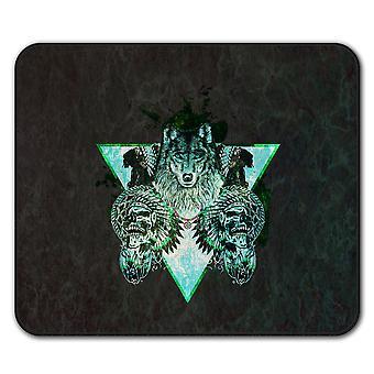 Wolf Skull Beast Animal  Non-Slip Mouse Mat Pad 24cm x 20cm | Wellcoda