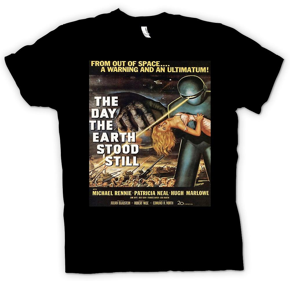Womens T-shirt-de Day The Earth Stood Still - B film