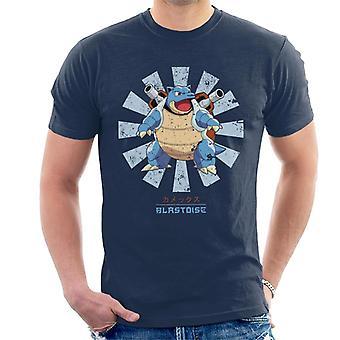 T-shirt giapponese uomo retrò di Pokemon Blastoise