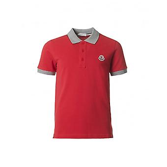 Moncler Short Sleeved Pique Polo