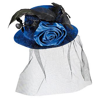 Louise Blau Halloween mini Hat veil