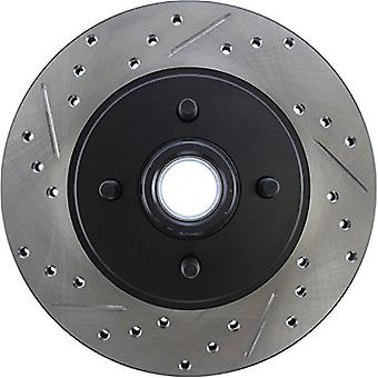 StopTech 127.61026R Sport Drilled/Slotted Brake Rotor (Front Right), 1 Pack
