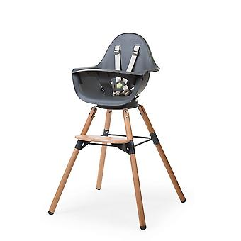 Childhome - Evolu ONE80° Eetstoel en Beugel 2-in-1 - Naturel/Anthra
