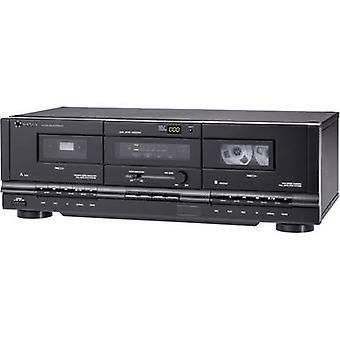 Renkforce TP-1000 Cassette deck Black Twin cassette deck