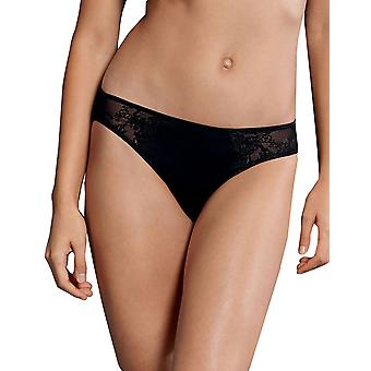 Rosa Faia 1339-001 Women's Grazia Black Solid Colour Knickers Panty Brief