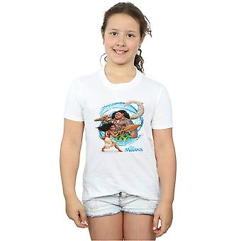 Disney Girls Moana And Maui Wave T-Shirt