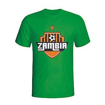 Zambia landet Logo t-skjorte (grønn)