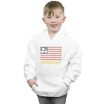 Woodstock Boys Distressed Flag Hoodie