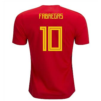 2018-19 Spain Home Shirt (Fabregas 10) - Kids