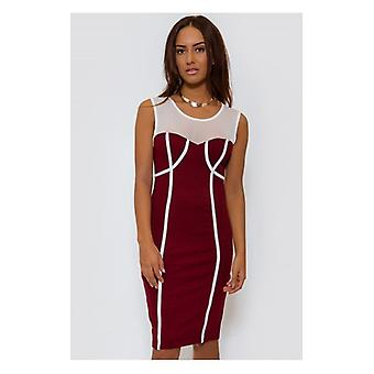 The Fashion Bible Burgundy Bodycon Dress