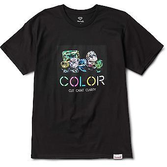 Diamond Supply Co Farbe T-shirt schwarz