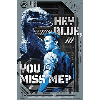 Jurassic World 2 - Hey Blue Poster Print