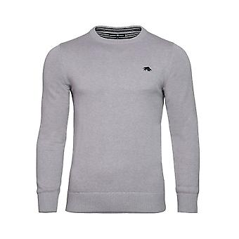 Crew Neck Cott/Cash Sweater - Grey Marl