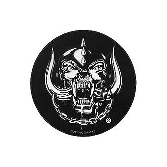 Motörhead XL carpet round Roseline Black 100% polyester with cotton trim, with the back of the pimples.