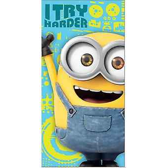 Minions I Try Harder Towel bath towel 100% cotton 06838